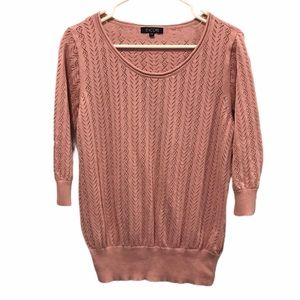 Encore pink 3/4 length sleeves sweater size 2x